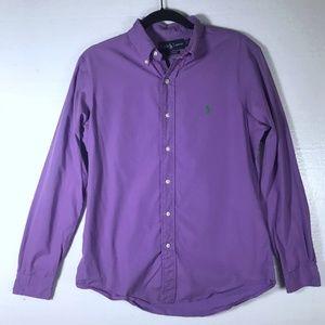 Ralph Lauren Size Medium Purple Button Down Shirt